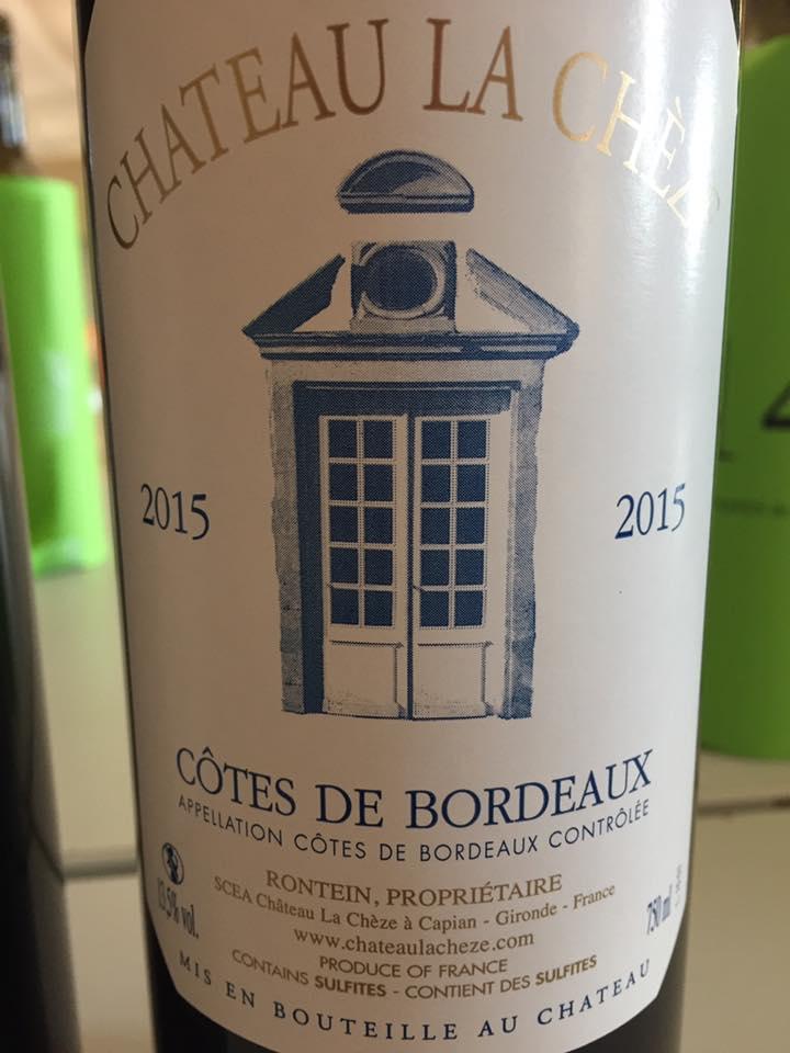Château La Cheze 2015 – Côtes de Bordeaux