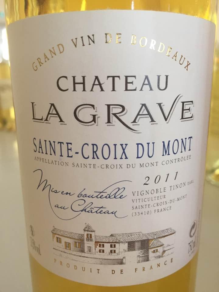 Château La Grave 2011 – Sainte Croix du Mont