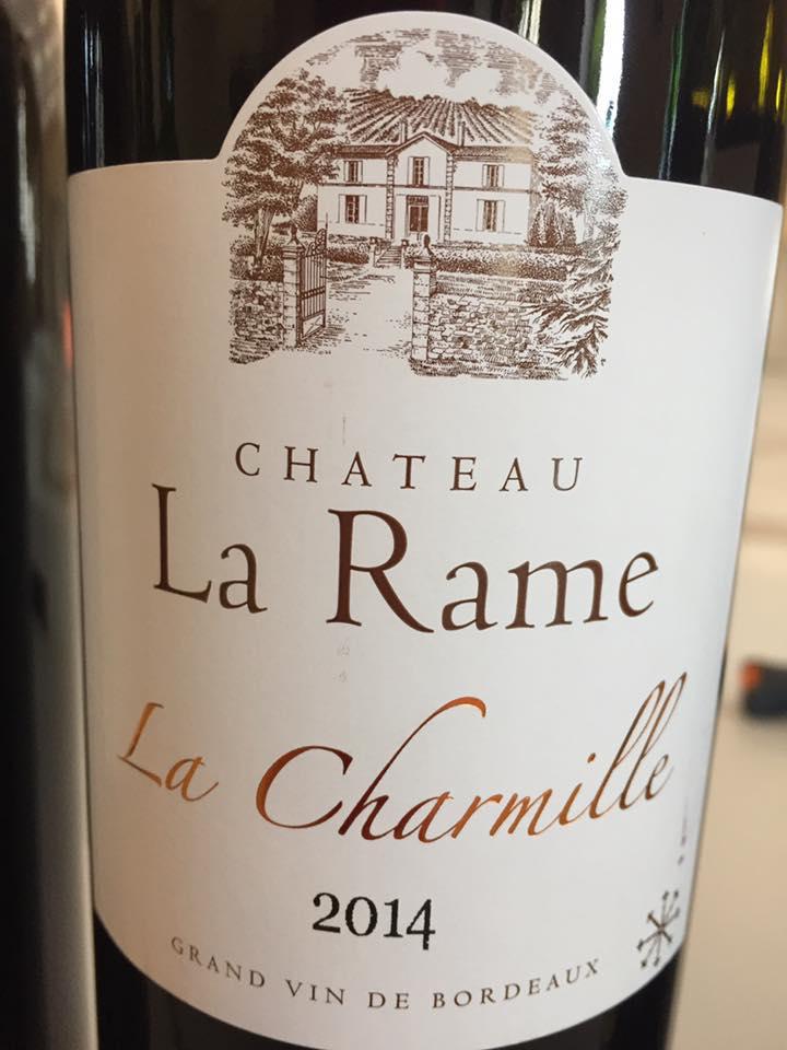 Château La Rame – La Charmille 2014 – Cadillac Côtes de Bordeaux