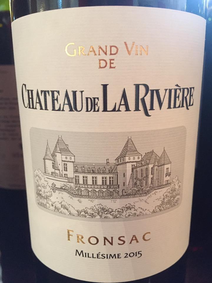Château La Rivière 2015 – Fronsac