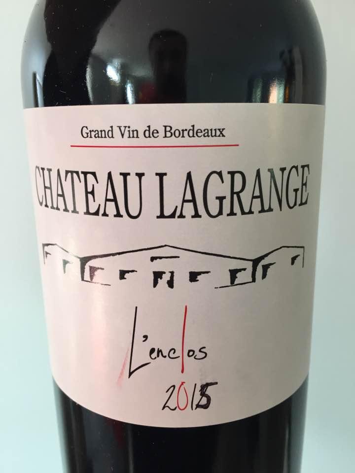 Château Lagrange – L'Enclos 2015 – Cadillac Côtes de Bordeaux