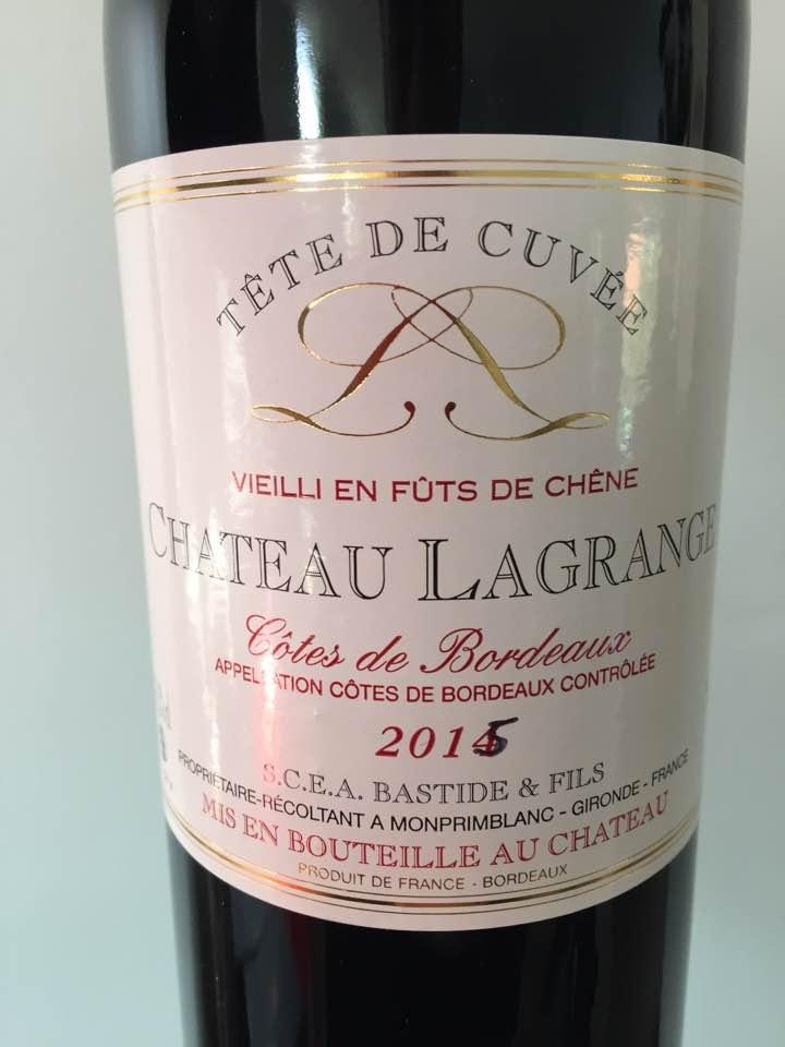 Château Lagrange 2015 – Côtes de Bordeaux