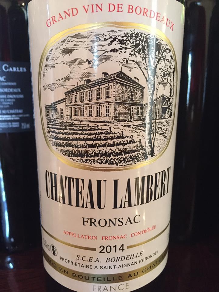 Château Lambert 2014 – Fronsac