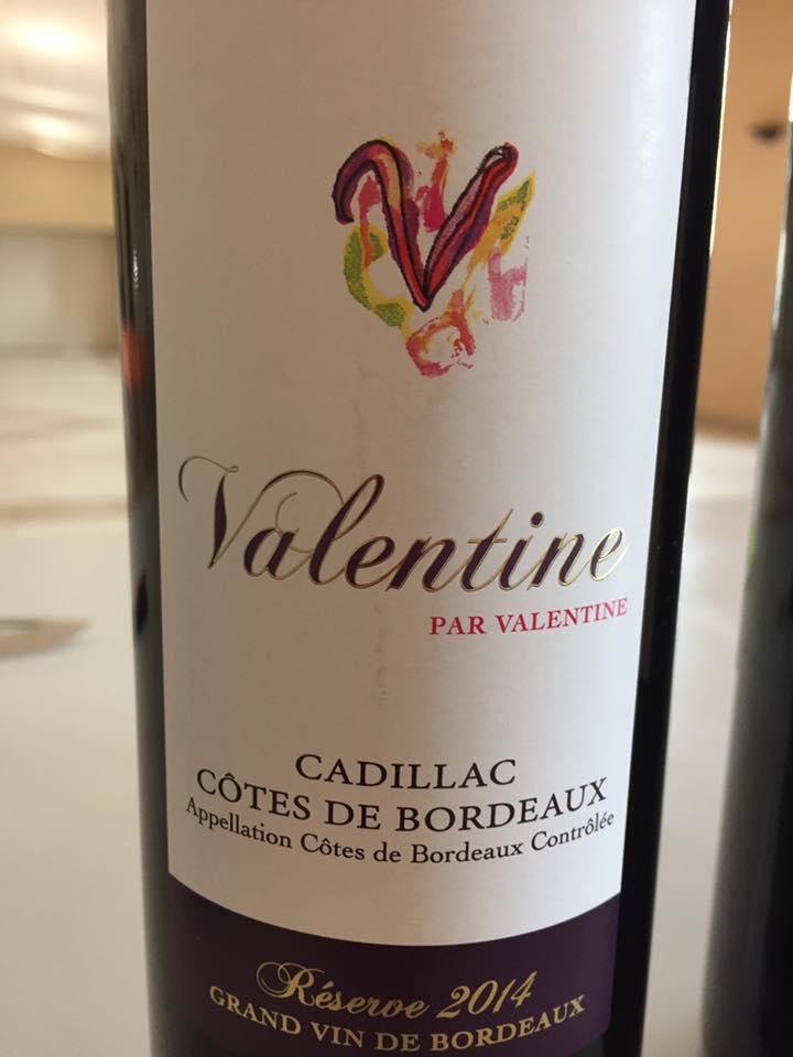 Château Lamothe de Haux – Valentine par Valentine 2014 – Cadillac Côtes de Bordeaux