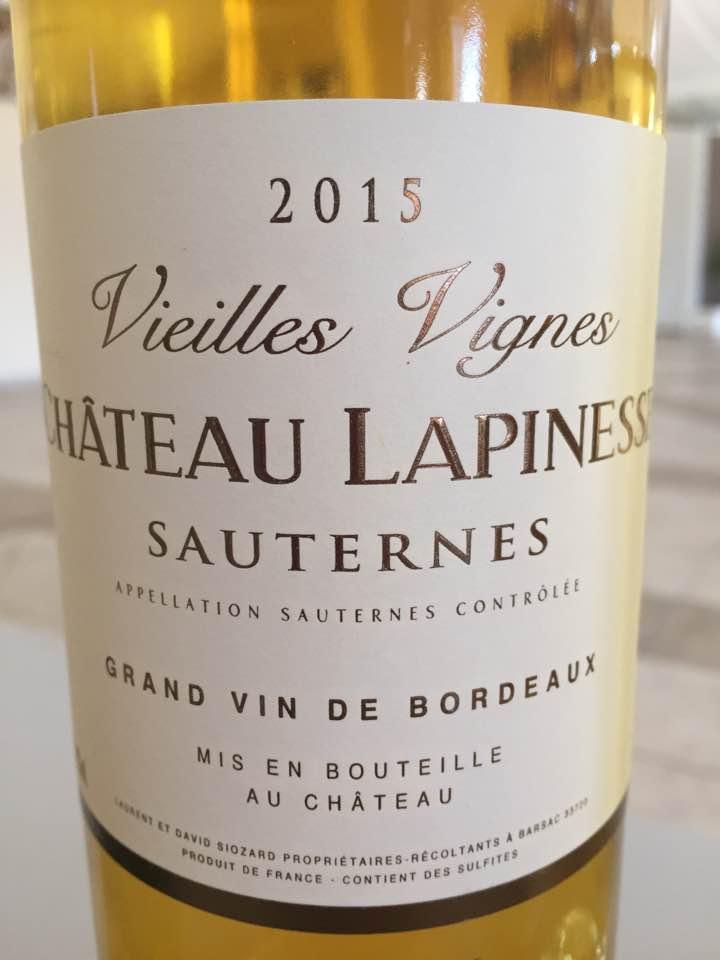 Château Lapinesse – Cuvée Vieilles Vignes 2015 – Sauternes