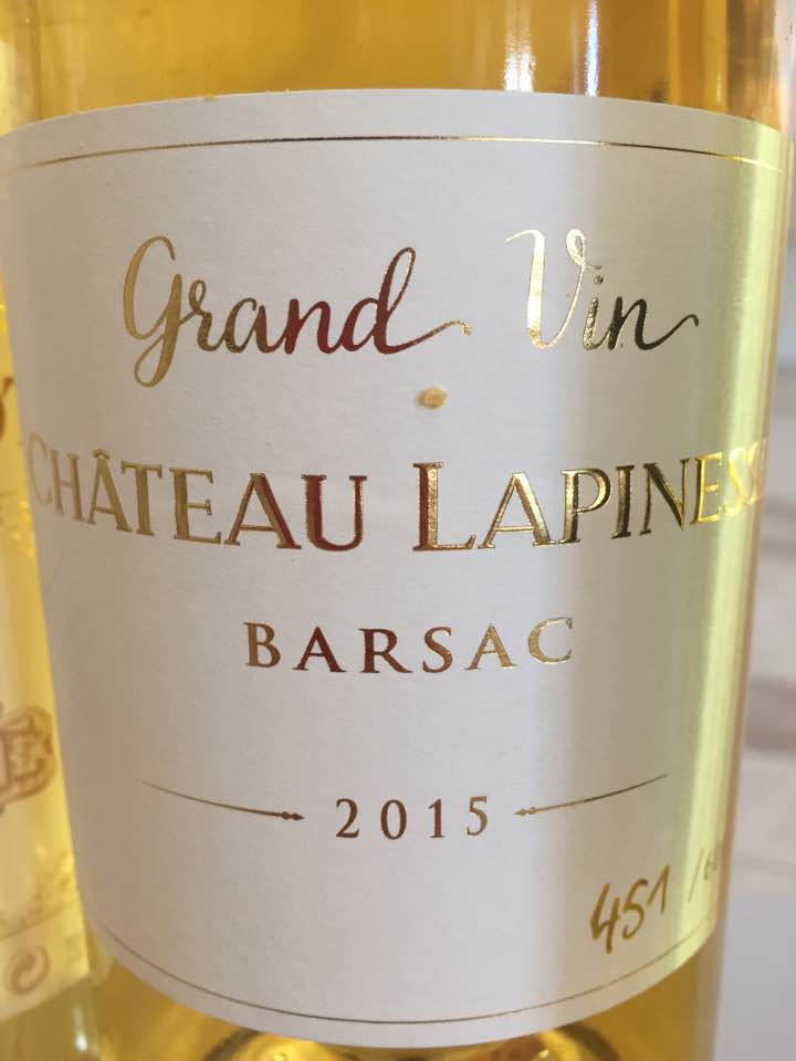 Château Lapinesse – Grand Vin 2015 – Barsac