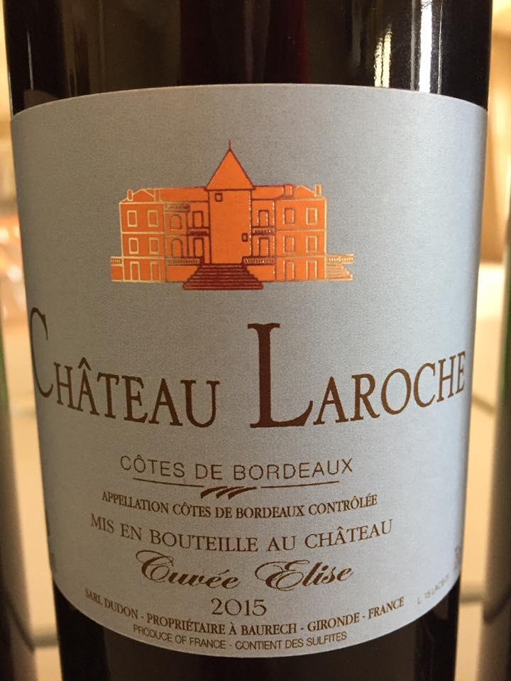 Château Laroche – Cuvée Elise 2015 – Côtes de Bordeaux
