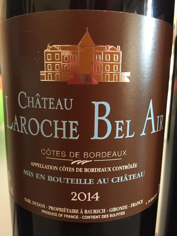 Château Laroche bel Air 2014 – Côtes de Bordeaux