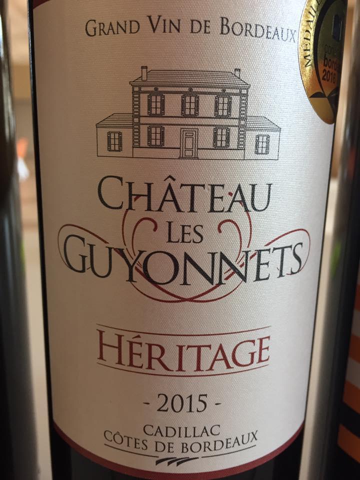Château Les Guyonnets – Héritage 2015 – Cadillac Côtes de Bordeaux