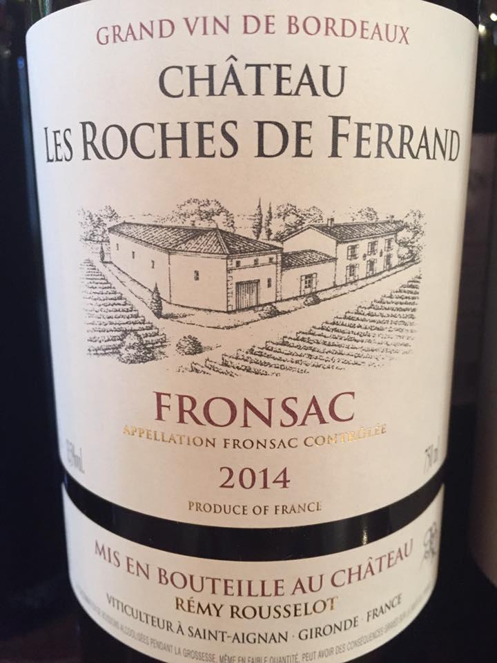Château Les Roches de Ferrand 2014 – Fronsac