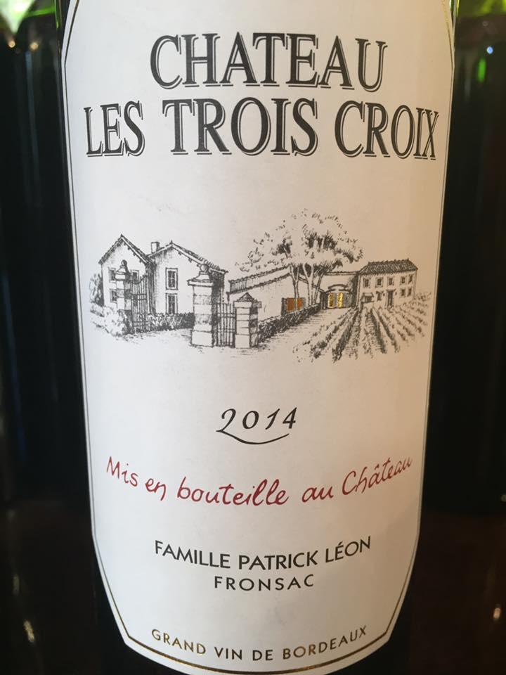 Château Les Trois Croix 2014 – Fronsac