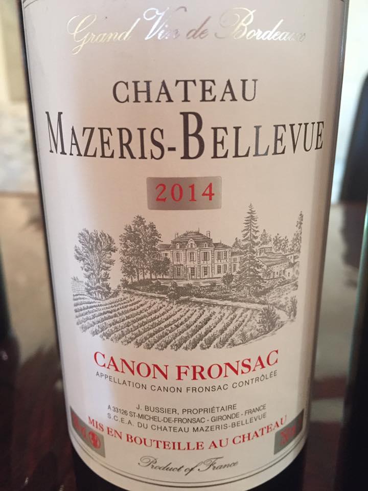 Château Mazeris Bellevue 2014 – Canon-Fronsac