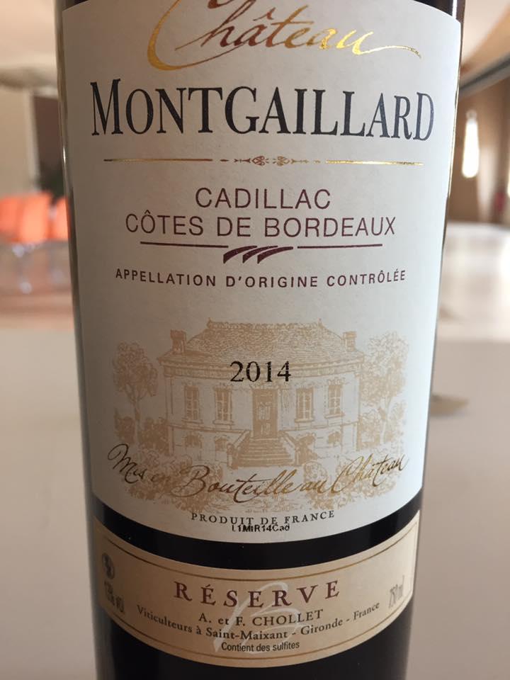 Château Montgaillard – Réserve 2014 – Cadillac Côtes de Bordeaux