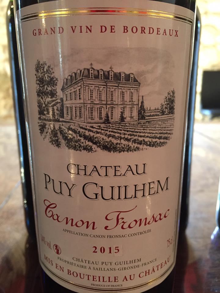 Château Puy Guilhem 2015 – Canon-Fronsac