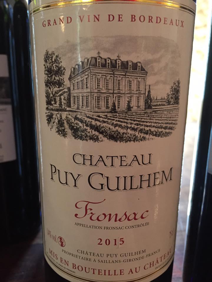 Château Puy Guilhem 2015 – Fronsac