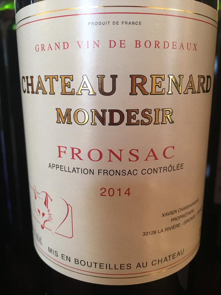 Château Renard Mondesir 2014 – Fronsac