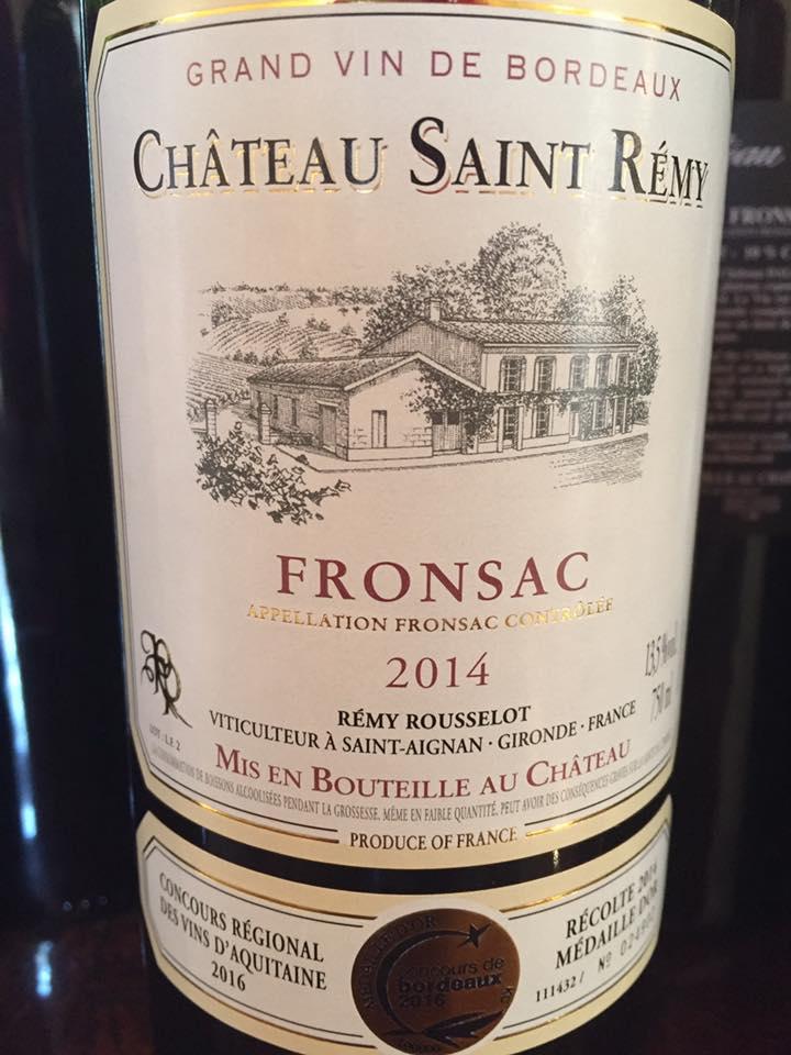 Château Saint Remy 2014 – Fronsac