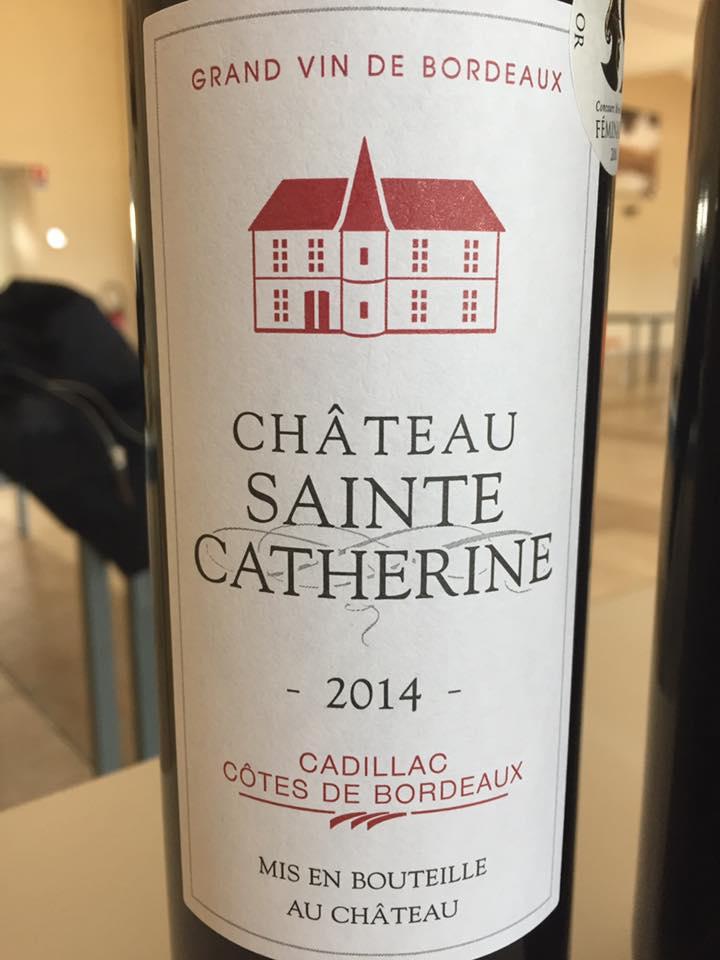 Château Sainte Catherine 2014 – Cadillac Côtes de Bordeaux