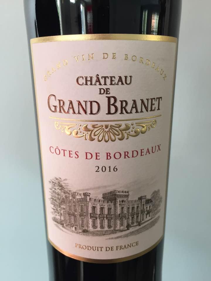 Château de Grand Branet 2016 – Côtes de Bordeaux