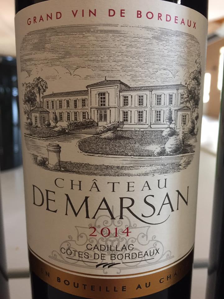 Château de Marsan 2014 – Cadillac Côtes de Bordeaux