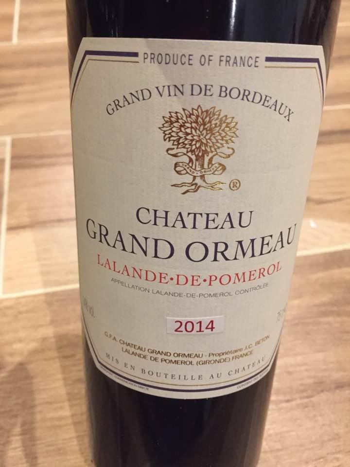 Château du Grand Ormeau 2014 – Lalande-de-Pomerol