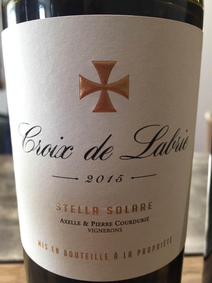 Croix de Labrie 2015 – Stella Solare – Bordeaux