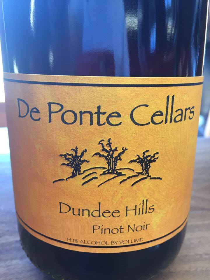De Ponte Cellars – 2013 Pinot Noir – Dundee Hills, Willamette Valley