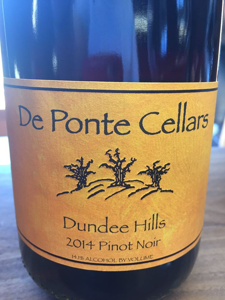De Ponte Cellars – 2014 Pinot Noir – Dundee Hills, Willamette Valley