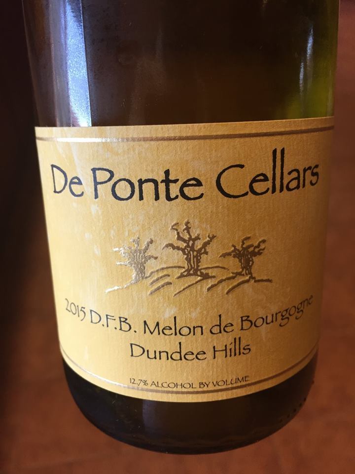 De Ponte Cellars – 2015 D.F.B. Melon Bourgogne – Dundee Hills, Willamette Valley