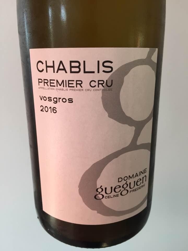 Domaine Céline et Frédéric Gueguen – Vosgros 2016 – Chablis Premier Cru