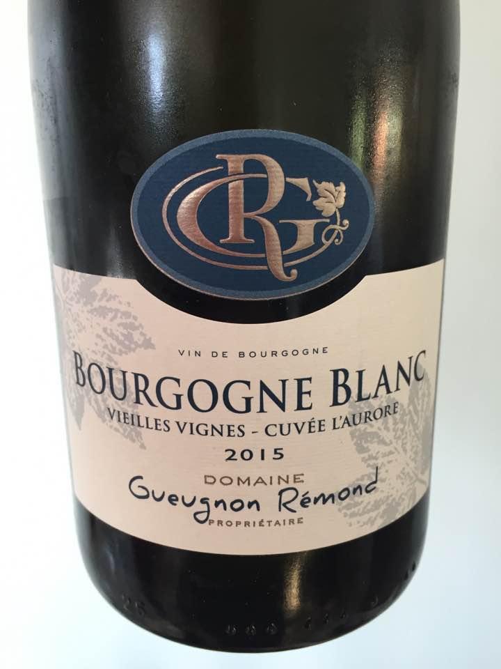 Domaine Gueugnon Remond – Vieilles Vignes – Cuvée L'Aurore 2015 – Bourgogne Blanc
