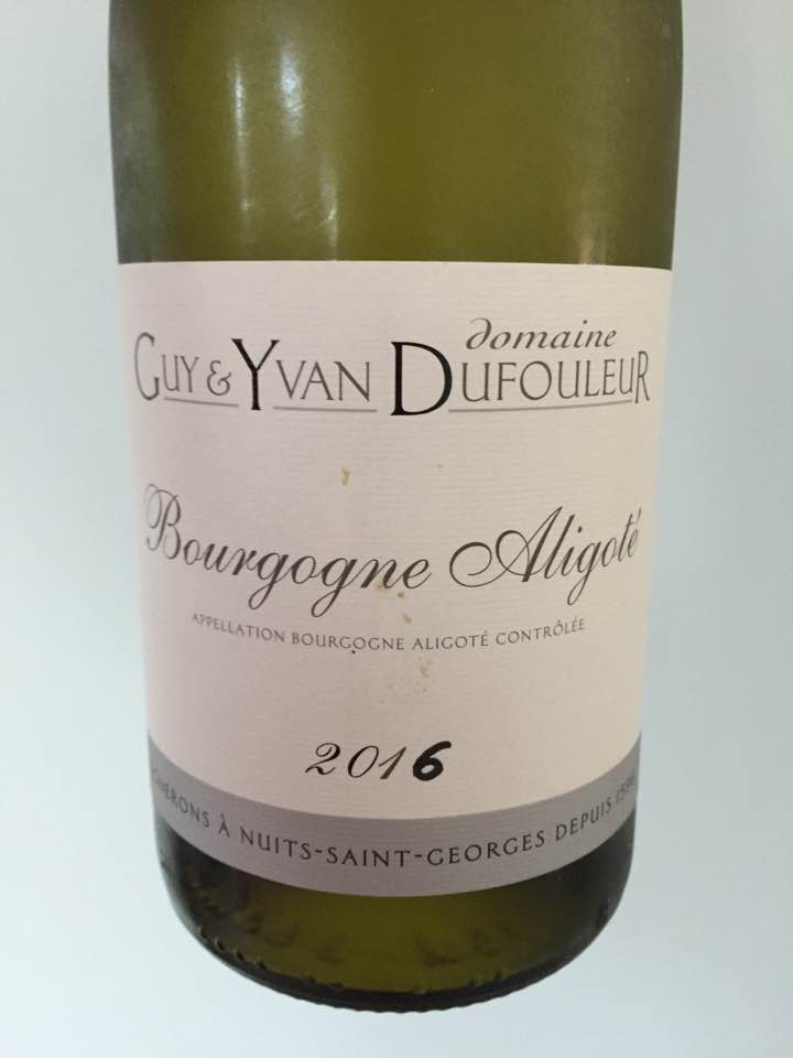 Domaine Guy & Yvan Dufouleur 2016 – Bourgogne Aligoté