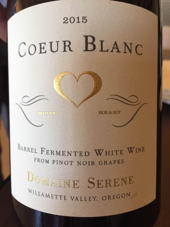 Domaine Serene – Cœur Blanc 2015 – Willamette Valley