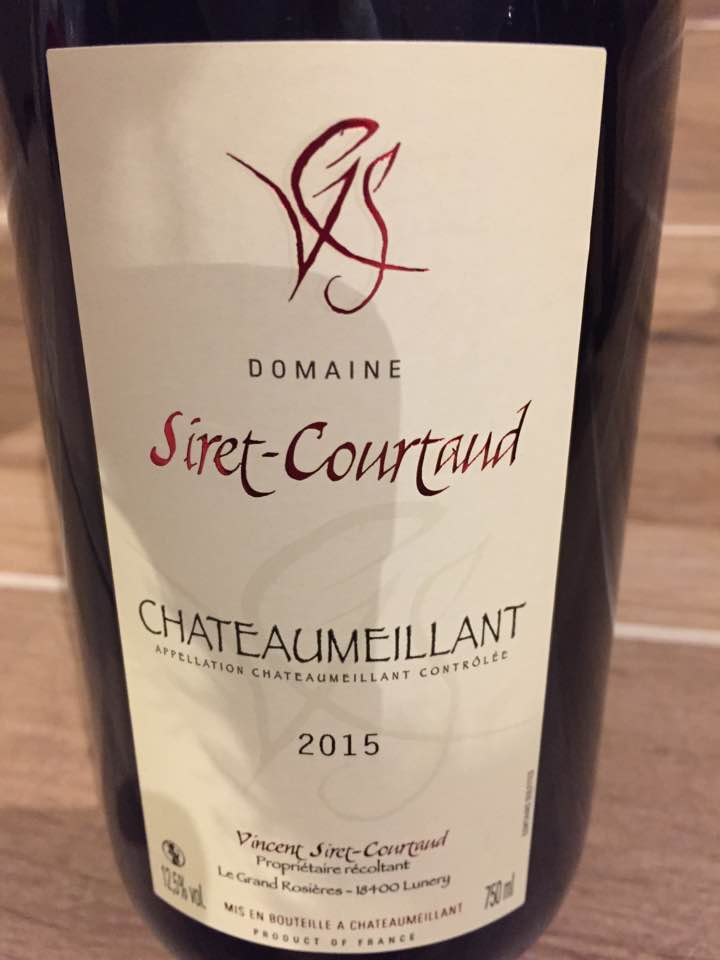 Domaine Siret-Courtaud 2015 – Chateaumeillant