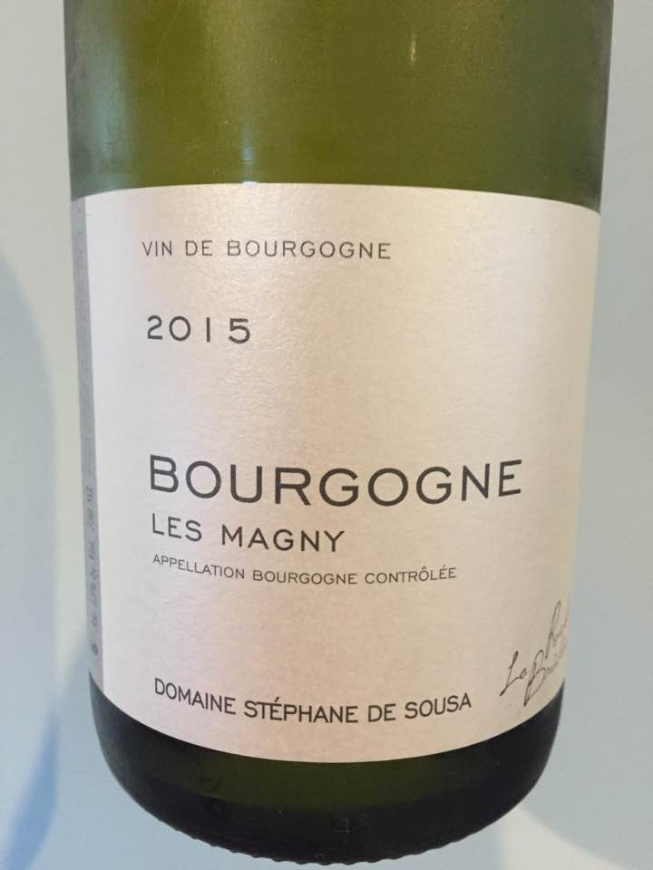 Domaine Stéphane de Sousa – Les Magny 2015 – Bourgogne