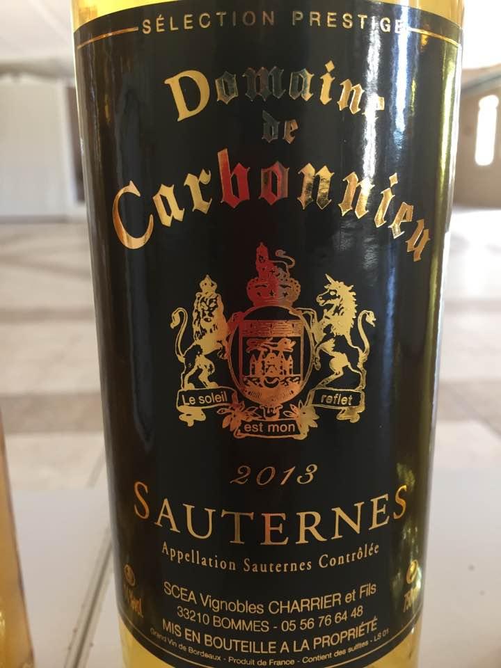 Domaine de Carbonnieu 2013 – Sauternes