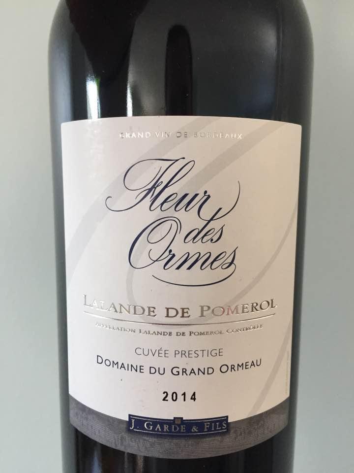 Fleur des Ormes – Cuvée Prestige 2014 – Lalande-de-Pomerol