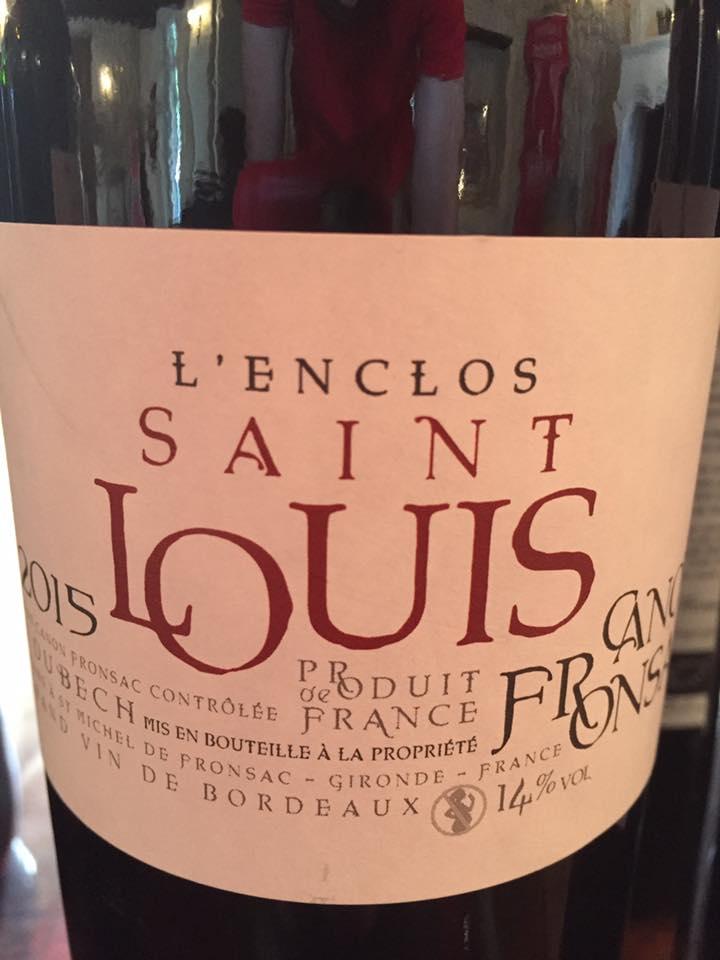 L'Enclos Saint Louis 2015 – Canon-Fronsac