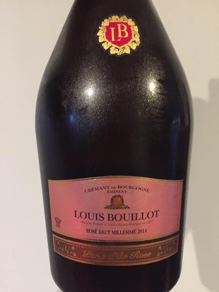 Louis Bouillot – Perle D'Or Rose – Brut Rosé Millésimé 2014 – Crémant de Bourgogne