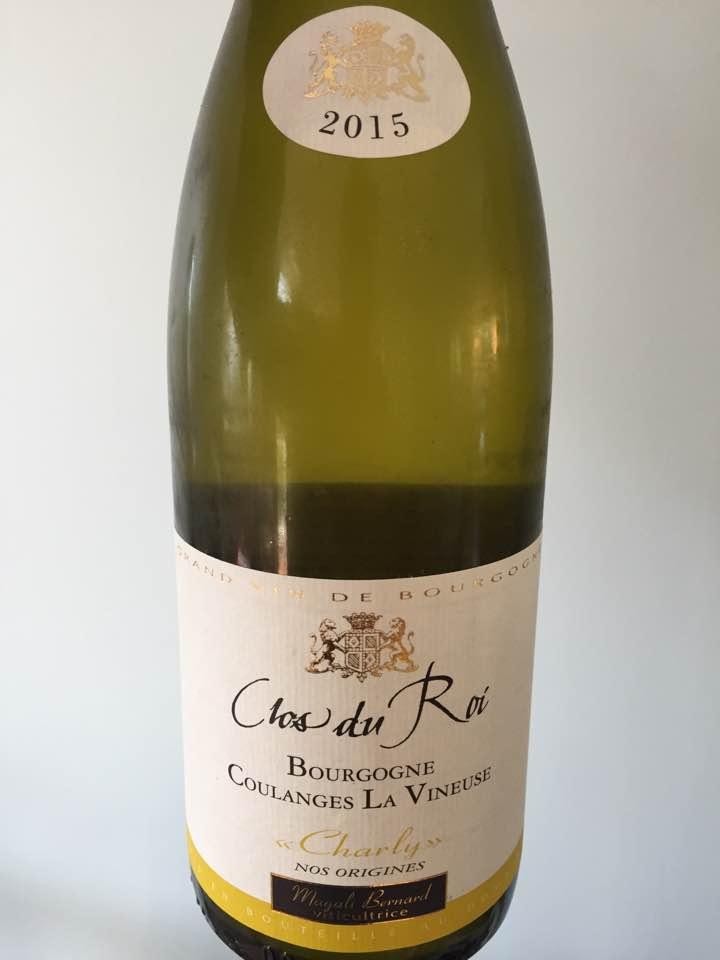 Magali Bernard – Clos du Roi 2015 – Bourgogne Coulanges La Vineuse