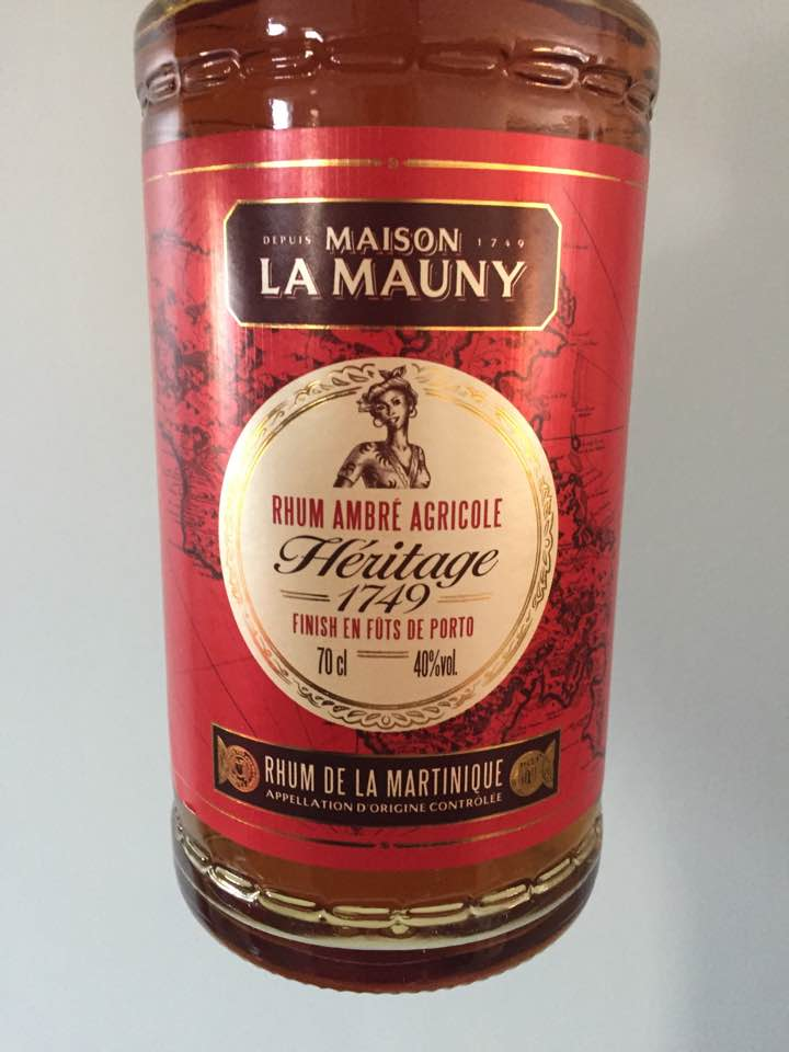 Maison La Mauny – Héritage 1749 – Finish en fûts de Porto – Rhum Ambré Agricole, Martinique