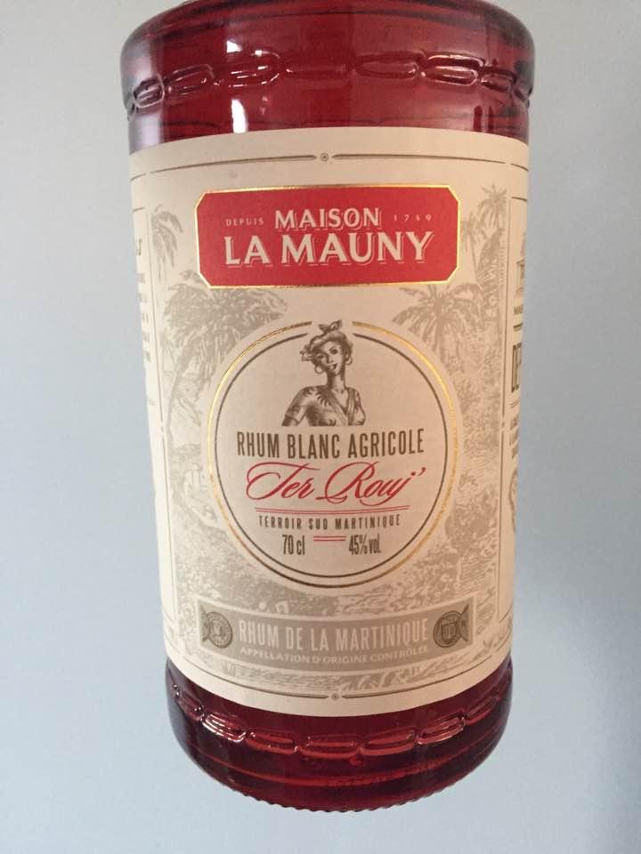 Maison La Mauny – Ter Rouj' – Rhum Blanc Agricole, Martinique