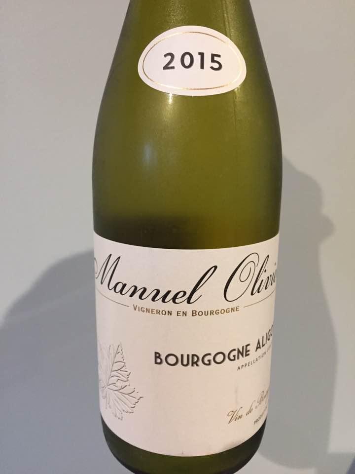 Manuel Olivier 2015 – Bourgogne Aligoté