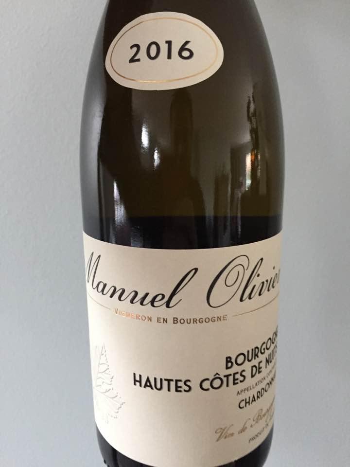 Manuel Olivier – Chardonnay 2016 – Bourgogne Hautes Côtes de Nuits