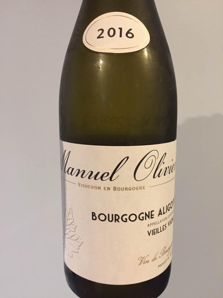 Manuel Olivier – Vieilles Vignes 2016 – Bourgogne Aligoté