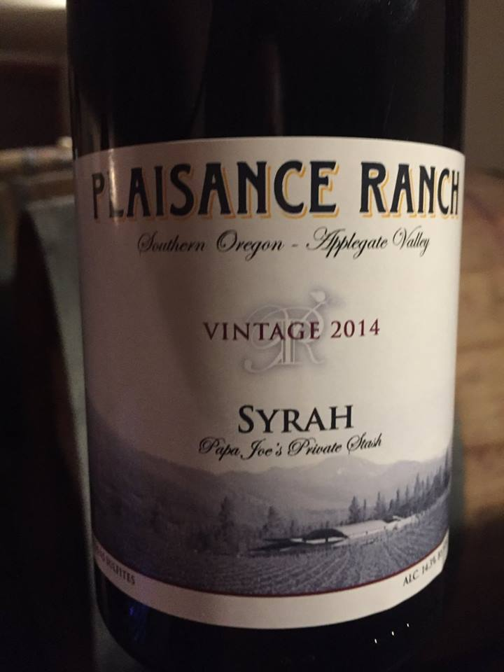 Plaisance Ranch – Syrah 2014 – Papa Joe's Private Stash – Applegate Valley, Southern Oregon