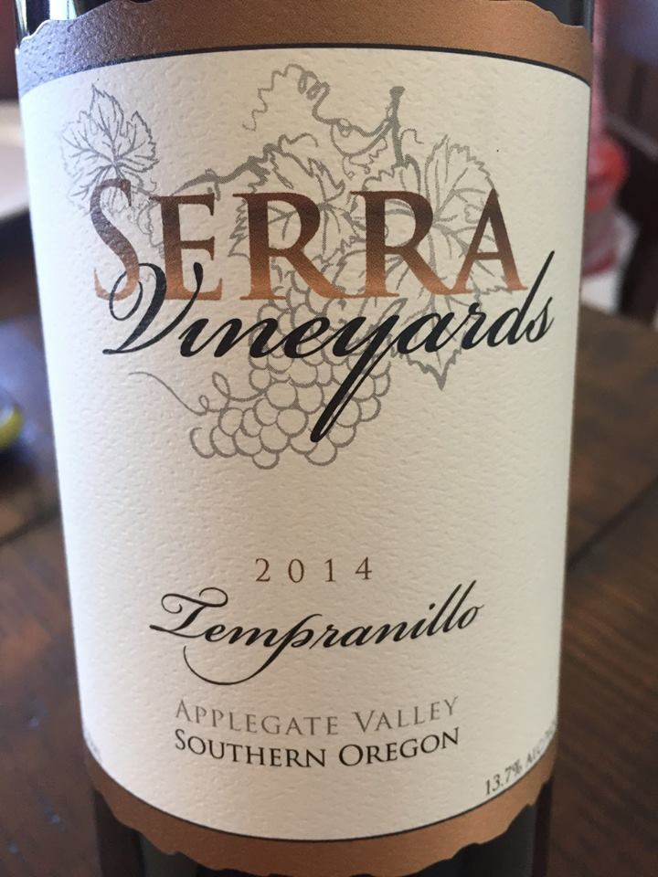 Serra Vineyards – Tempranillo 2014 – Applegate Valley, Southern Oregon