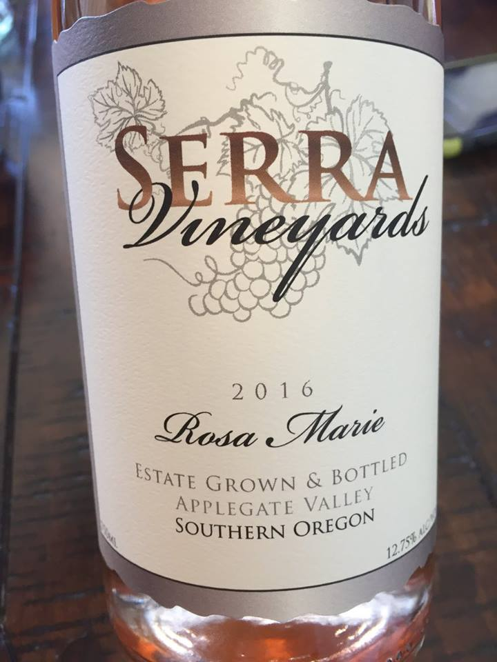 Serra Vineyards – Rosa Marie 2016 – Applegate Valley, Southern Oregon