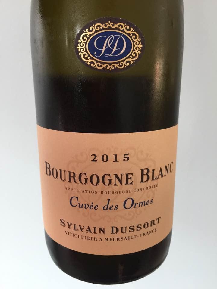 Sylvain Dussort – Cuvée des Ormes 2015 – Bourgogne Blanc