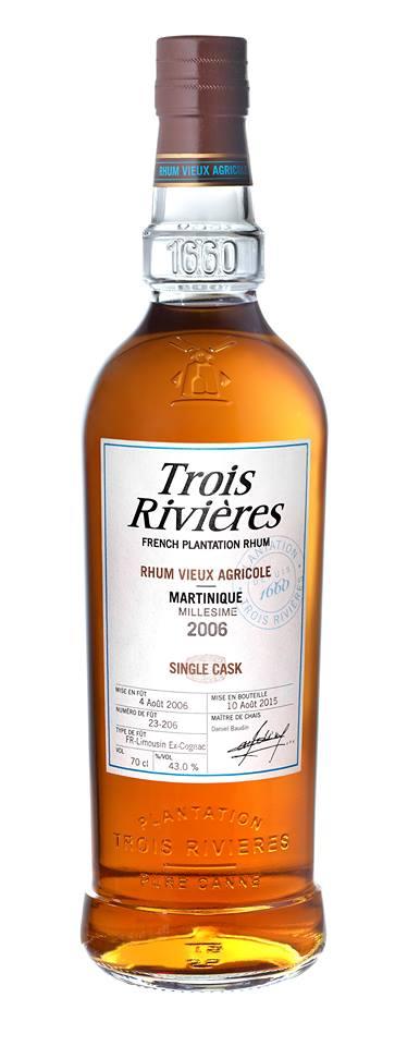 Trois Rivières – Millésime 2006 – Single Cask – Fût 23-206 – Rhum Vieux Agricole, Martinique